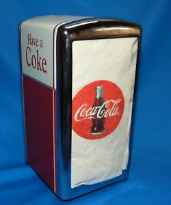 Coca Cola Napkin Dispenser  Coke Kitchen  Coke Collector