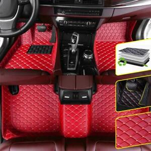 Car Floor Mats Pu Leather For Ford Mustang 2010 2014 Accessories Red 1 Set Red
