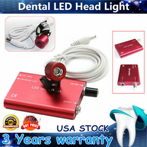3pc Portable Dental Led Head Light Lamp Headlight For Dental Binocular Loupe New
