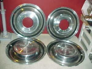 Vtg 1970 s Ih International 4x4 Scout Travelall Pick Up 15 Hubcaps Wheel Covers