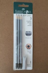 Faber Castell 3 Pencils And 1 Protector eraser