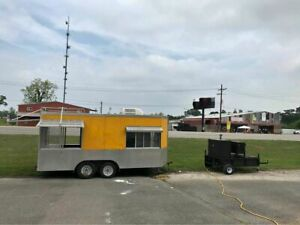 20 Barbecue Concession Trailer W Towable Commercial Open Bbq Smoker Trailer F