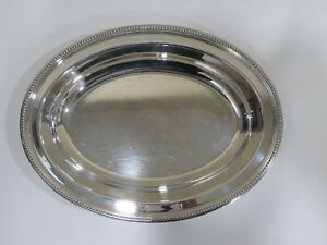 Christofle Silver Plated Oval Serving Tray France