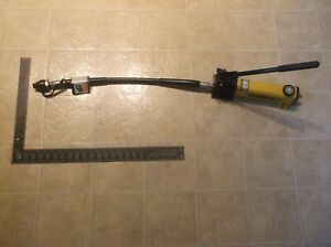 Enerpac P 141 10k Single Speed Hydraulic Hand Pump With Hose