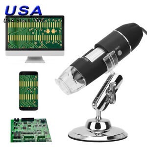 1600x 8led Usb Zoom Digital Microscope Hand Held Biological Endoscope Us