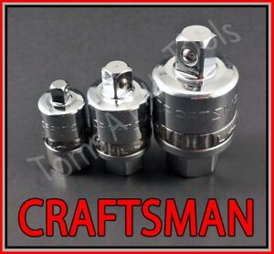 Craftsman Hand Tools 3pc 1 4 3 8 1 2 Reversible Ratchet Adapter Set