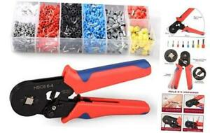 Ferrule Crimper Tool Kit Insulated With 1200pcs Wire Ferrules Wire Ends Terminal
