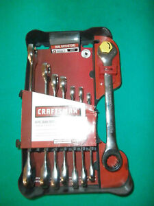 New Craftsman 8 Pc Dual Ratcheting Sae Wrench Set 5 16 To 3 4 14755