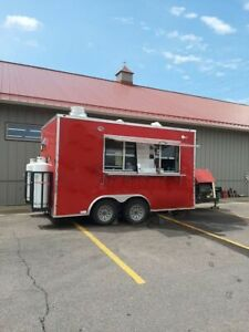 2018 8 5 X 14 Fully Equipped Mobile Kitchen Food Concession Trailer For Sale