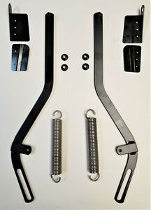 New 1971 76 Cadillac Convertible Top Glass Support Arms Springs Bracket Set