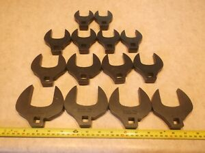 Set Of 14 Snap On Industrial Crows Foot 1 1 16 Through 2