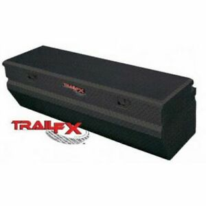 Trailfx 150602 Truck Tool Box Chest Single Lid Black Aluminum 60x20x17