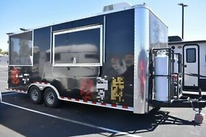 2018 8 5 X 20 Cargo Craft Food Concession Trailer W Screened Porch For Sale