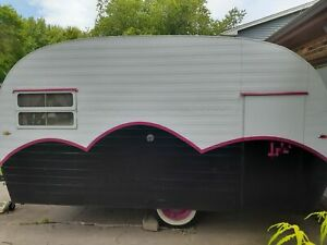 Vintage 1955 Trotwood Cub Pop up Bakery Ice Cream Concession Trailer For Sale In