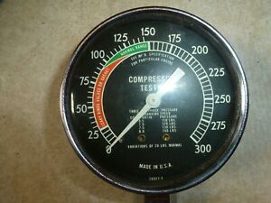 Vintage Compression Tester With Nose Cone 28917 1 Made In Usa Used