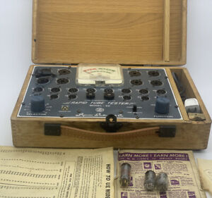 Vintage Superior sico Rapid Tube Tester Model 82 W Instruction Tested Working