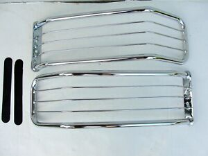 Head Light Brush Guards Left And Right Chrome brand New