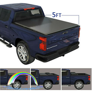 New 5ft For Ford Ranger 2014 2018 Tri Fold Tonneau Cover Short Bed Waterproof