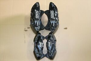 Jdm 2008 2014 Subaru Wrx Sti Grb Black Brembo Brake Calipers Front Rear 4 2