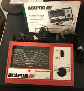 Vintage Actron Engine Analyzer Model 615 With Owners Manual