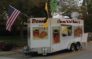 2010 7 X 16 Mini Donut And Coffee Concession Trailer With Pro Fire Suppression