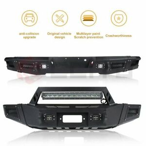 Fits For Ford F 150 2009 2014 Front Rear Bumper Guard W Led Lights Cool