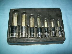 New Snap on 1 2 Drive 6 To 19 Mm Allen Hex Socket Driver Set 307esamy Unused