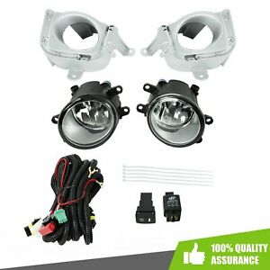 Clear Lens Front Bumper Fog Light Lamp Switch harness For 2010 2011 Toyota Prius