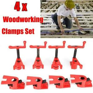 4x 3 4 Heavy Duty Woodworking Workbench Quick Release Iron Wood Metal Clamp Set