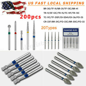 200x Dental Diamond Burs For High Speed Handpiece Medium Fg 1 6mm Whz