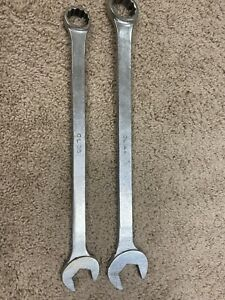 Mac Tools Large 1 3 8 Cl44 And Cl36 1 1 8 12 Point Combination Wrenches Usa