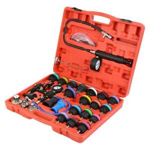 28pc Master Radiator Pressure Tester And Vacuum Purge Cooling System Kit Adapter