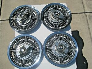 Set Of Four Buick 14 Hubcap Wire Wheelcovers With Spinners