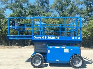 2010 Genie Gs 3268rt All Terrain Scissor Lift 4wd Manlift Aerial Lift Genie Lift