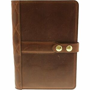 Steel Timber Leather Small Executive Tablet Folio Full grain Leather Smal