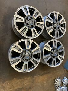 4 Toyota Tundra Sequoia 20 Grey Machined Factory Oem Wheels Rims 07 20 1911