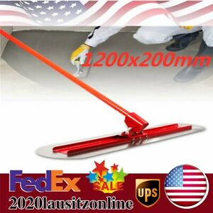 Bull Float Concrete Kit Cement Trowel Floor Wiping Smoothing Tool 1200x200mm