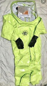Dupont Class 2 Encapsulated Hazmat Cbrn Threat Suit Lime Yellow New