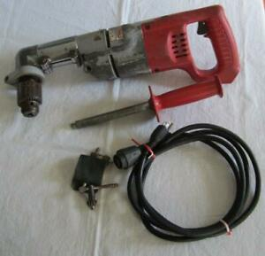Milwaukee 1 2 Right Angle Varible Speed Reversible Drill 1107 1 0 500 Rpm