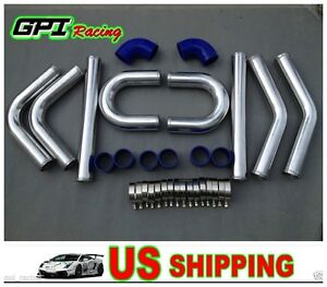 64mm Universal 2 5 Aluminum Turbo Intercooler Piping elbow coupler Kit