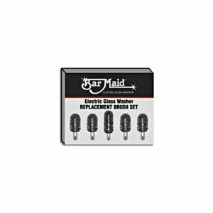 Bar Maid Brs 1722 5 Piece Replacement Glass Washer Brush Set