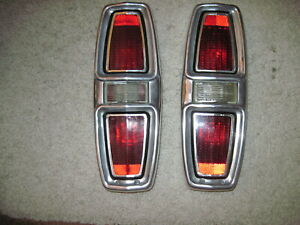1967 Ford Fairlane Station Wagon Ranchero Rear Tail Light Assemblys
