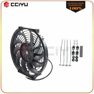 Cooling Fan Universal Plastic Electric Engine 12 Inch 12v Pull Push 1400cfm