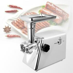 Stainless Electric Meat Grinder Mincer Sausage Stuffer Filler Chopper Machine Us