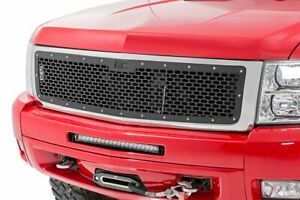 Rough Country Custom Mesh Grille fits 2007 2013 Chevy Silverado 1500 Black