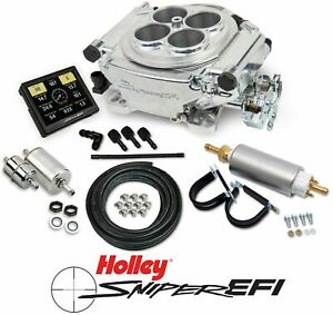 Holley Sniper Efi 550 510k 4 Barrel Fuel Injection Conversion Shiny Master Kit