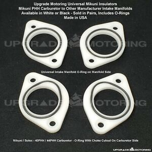Upgrade Motoring Mikuni solex Phh Carb Universal O ring Insulators White Pair
