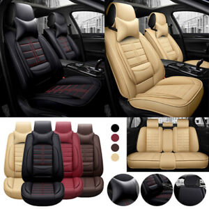 Universal 2019 Deluxe 5 Seats Suv Car Seat Cover Breathable Cushion Pu