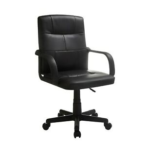 Mainstays Tufted Leather Mid back Office Chair Multiple Colors