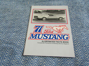 1971 Ford Mustang Mach 1 Grande Illustrated Facts Feature Manual Book Obsolete